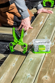 Årets terrassenyhet - ESSVE med skjult montering av terrasseskruer