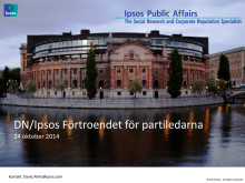 DN/Ipsos Förtroendet för partiledarna - Kraftigt ökat förtroende för Centerpartiets Annie Lööf