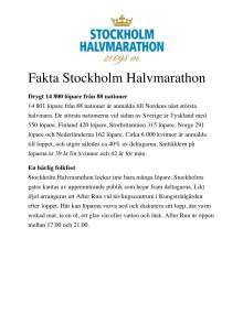 Fakta Stockholm Halvmarathon 2016