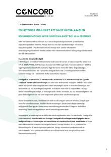 Brev till statsminister Stefan Löfven