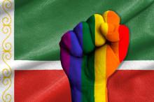 Demonstration mot utrensningarna av homo- och bisexuella i Tjetjenien