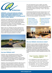 CEEQUAL International information sheet