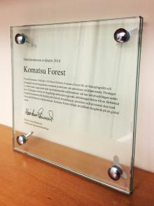 Komatsu Forest prisas för sitt miljöarbete