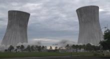 Heftig sprengning av kraftverk