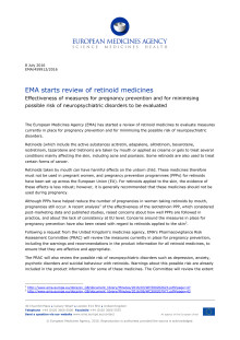 EMA starts review of retinoid medicines