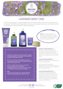 Samlingsblad Lavender Body Care