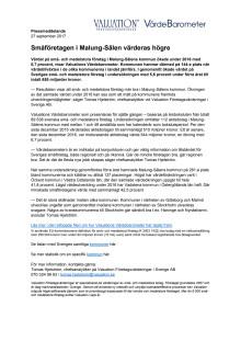 Värdebarometern 2017 Malung-Sälens kommun