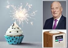 Lefdal (80) gir Kongen DAB-radio i 80-årsgave
