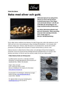Pressrelease Odense silver- och guldpulver.
