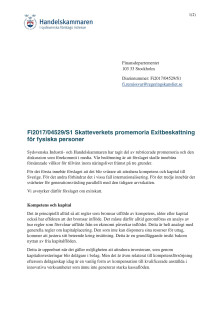 Remissyttrande över Skatteverkets promemoria Exitbeskattning för fysiska personer - Fi2017/04529/S1