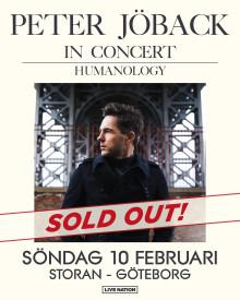 GRATTIS PETER JÖBACK - Konserten på Storan i Göteborg såldes ut på en timme!