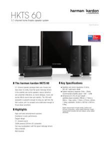 Specifikation sheet - HKTS 60