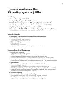 Hyresmarknadskommitten: 25-punktsprogram