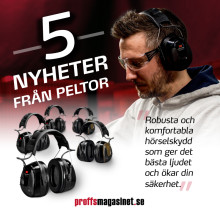 Fem rykande färska nyheter från 3M Peltor!