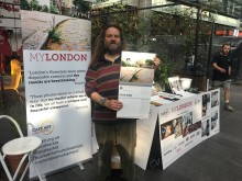 Rough sleepers working on World Homeless Day 10 Oct