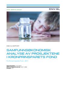 DNV GL Rapport: Samfunnsøkonomisk analyse av prosjektene i Kronprinsparets Fond v 1.2