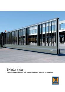 Skjutgrindar - Självbärande konstruktion, hög säkerhetsstandrard, komplett förmontering