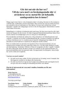 Information om botoxstudien