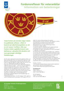 Fordonsreflexer för veteranbilar - information om beteckningar