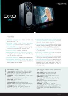 DxO ONE, specifikationer