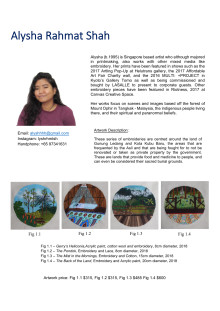Annex A - Biographies of artists and details of artworks