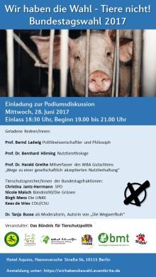 Tierschutzpolitik nach der Bundestagswahl 2017