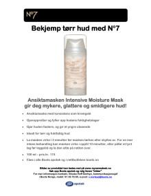 No7 Intensive Moisture Mask