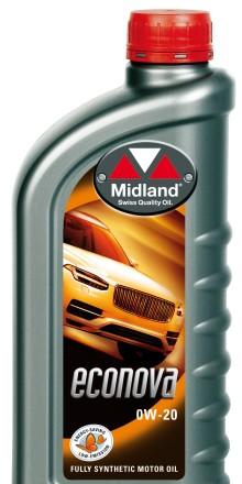 Midland produktnytt: Uppdatering för Econova 0W-20 och Axxept 5W-30.