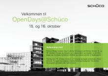 Velkommen til OpenDays@Schüco 15. og 16. oktober 2015 på Helsfyr Atrium