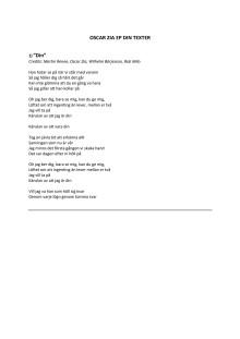 Oscar Zia EP Texter & Credits