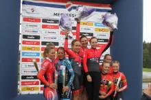 Asker CK, Lillehammer CK og Ringerike SK 1 vant NM Lagtempo 2019 Vestby, IF Frøy.