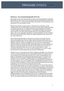 Remissvar - En ny brottsskadelag (SOU 2012:26)