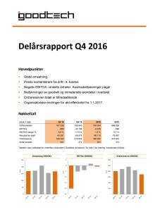 Kvartalsrapport Q4 2016