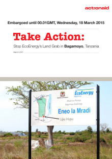Take Action - Stop EcoEnergy's land grab Embargoed report