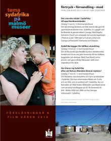 Program för föreläsningsserie, Tema Sydafrika på Malmö Museer