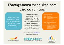 temadag: Företagsamma människor inom vård och omsorg