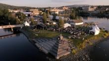 Stor matmarknad på torget inleder välbesökta evenemangsdagar i Härnösand