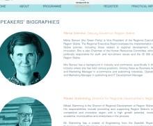 Märta Stenevi talar om regional inverkan på konferens i Bryssel