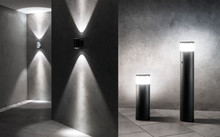 Fräscha ljusaccenter för fasader och vägar – de nya utomhusarmaturerna i ALVA-serien från ESYLUX