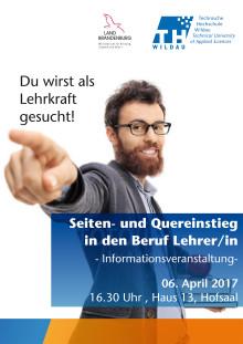 Für Quer- und Seiteneinsteiger: Lehrer für Brandenburger Schulen gesucht