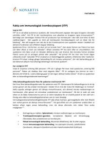 Fakta om Idiopatisk/Immun trombocytopeni, ITP