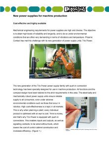 New power supplies for machine production