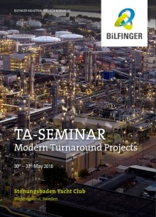 "Bilfinger organizes TA-seminar on the theme ""Modern Turnaround Projects"""