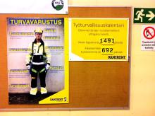 Turun keskustan vuokraamo mallioppilas työtapaturmien vähentämisessä