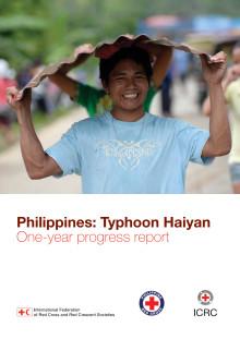Typhoon Hayian - one year progress report - Tyfonen Hayian - utvecklingsrapport efter ett år