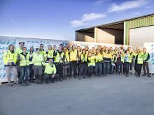 Finja Betongs nye fabrikk for ringmurer er åpnet