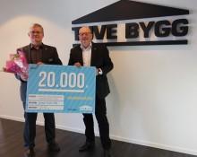 Tuve Bygg AB stödjer Lions hjälparbete genom sponsring, istället för påskägg till de anställda.