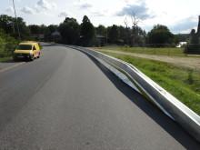 Unika krocktester på mässa med patentsökta fordonsbarriärer