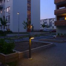 Fox Design har levererat utebelysning till kv. Långskeppet 1 och 2 i Norra Ängby, Stockholm