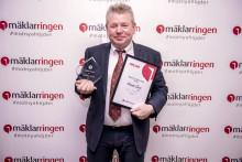 """Mäklarringens Michael Berg utsedd till topp 10 i Sverige och Mäklarringens """"Årets mäklare 2016""""."""